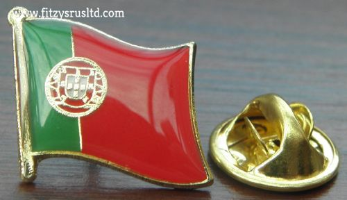 Portugal Portuguese Country Flag - Lapel - Hat - Cap - Tie Pin Badge - Brand New